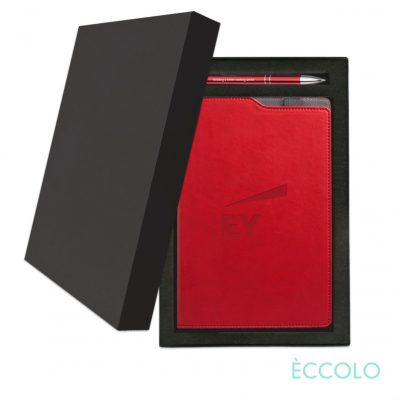 Eccolo® Soca Journal/Clicker Pen Gift Set - (M) Red