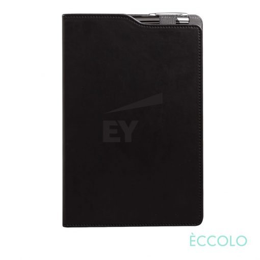 Eccolo® Soca Journal/Clicker Pen - (M) Black