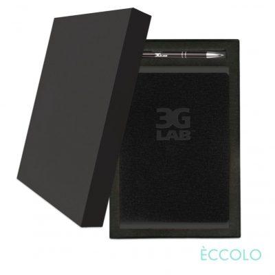 Eccolo® Solo Journal/Clicker Pen Gift Set - (M) Black