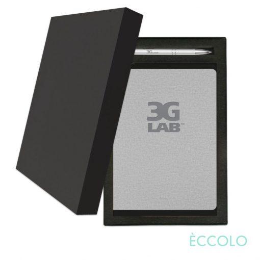 Eccolo® Solo Journal/Clicker Pen Gift Set - (M) Gray