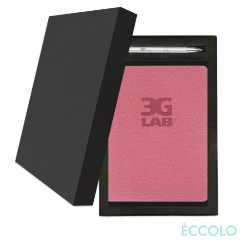 Eccolo® Solo Journal/Clicker Pen Gift Set - (M) Pink