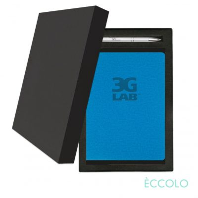 Eccolo® Solo Journal/Clicker Pen Gift Set - (M) Turquoise
