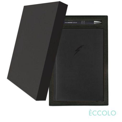 Eccolo® Symphony Journal/Clicker Pen Gift Set - (M) Black
