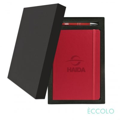 Eccolo® Techno Journal/Clicker Pen Gift Set - (M) Red