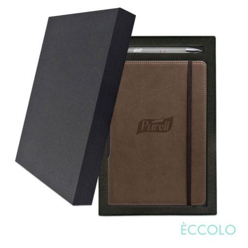 Eccolo® Tempo Journal/Clicker Pen Gift Set - (M) Brown