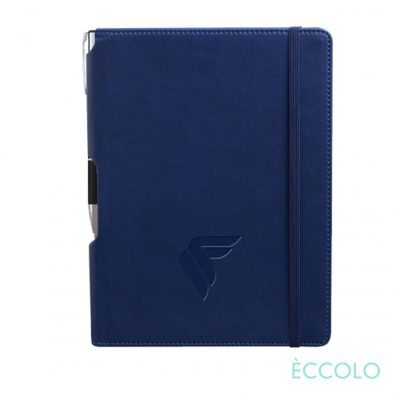 Eccolo® Tempo Journal/Clicker Pen - (M) Navy Blue