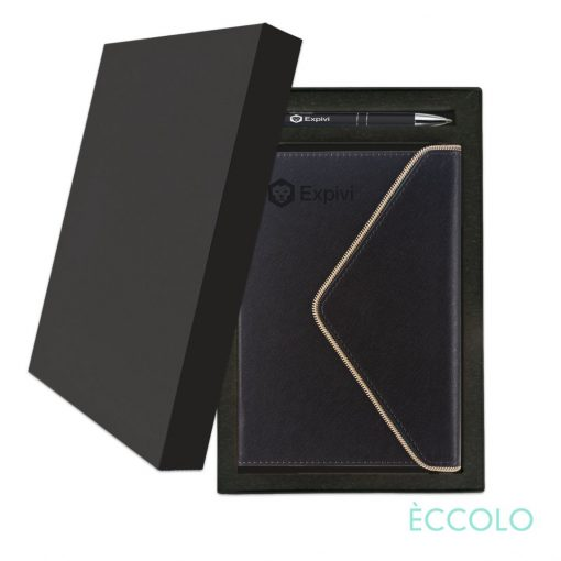 Eccolo® Waltz Journal/Clicker Pen Gift Set - (M) Black
