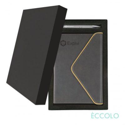 Eccolo® Waltz Journal/Clicker Pen Gift Set - (M) Gray
