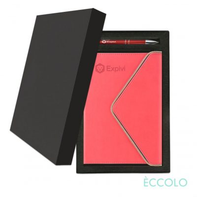 Eccolo® Waltz Journal/Clicker Pen Gift Set - (M) Coral