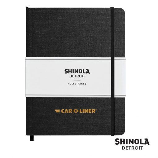 "Shinola® HardCover Journal - (L) 7""x9"" Black"