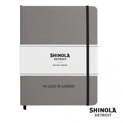 "Shinola® HardCover Journal - (L) 7""x9"" Light Gray"