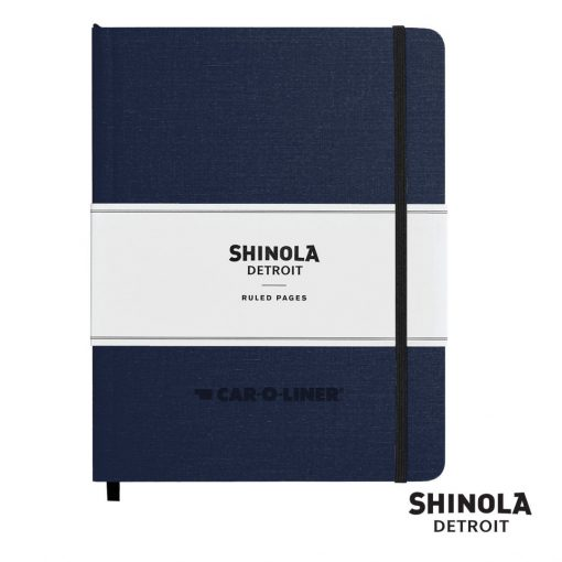"Shinola® HardCover Journal - (L) 7""x9"" Navy Blue"
