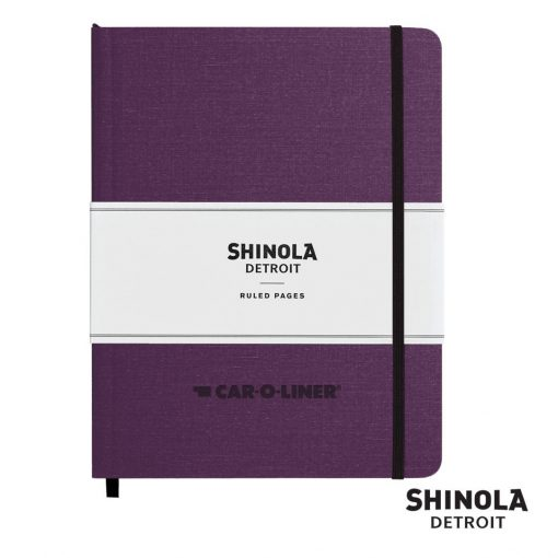 "Shinola® HardCover Journal - (L) 7""x9"" Purple"