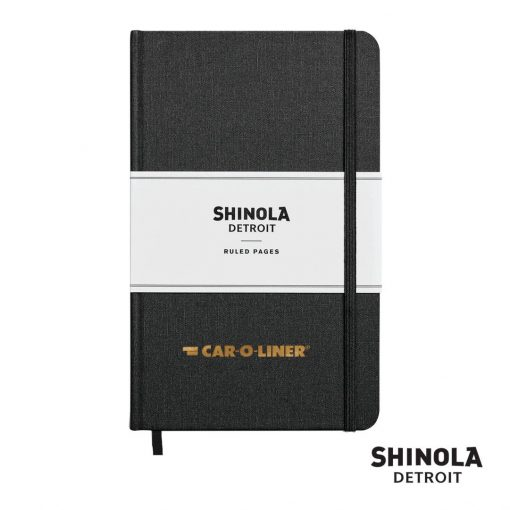"Shinola® HardCover Journal - (M) 5¼""x8¼"" Jet Black"