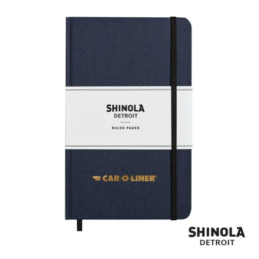 "Shinola® HardCover Journal - (M) 5¼""x8¼"" Navy Blue"
