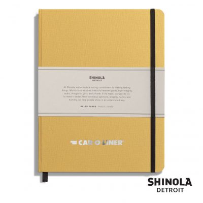 "Shinola® HardCover Journal - (L) 7""x9"" Golden Yellow"