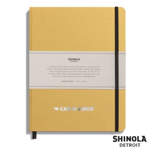 "Shinola® HardCover Journal - (L) 7""x9"" Golden Yellow"