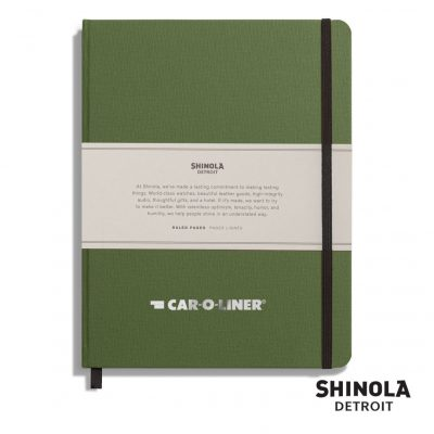 "Shinola® HardCover Journal - (L) 7""x9"" Olive Green"