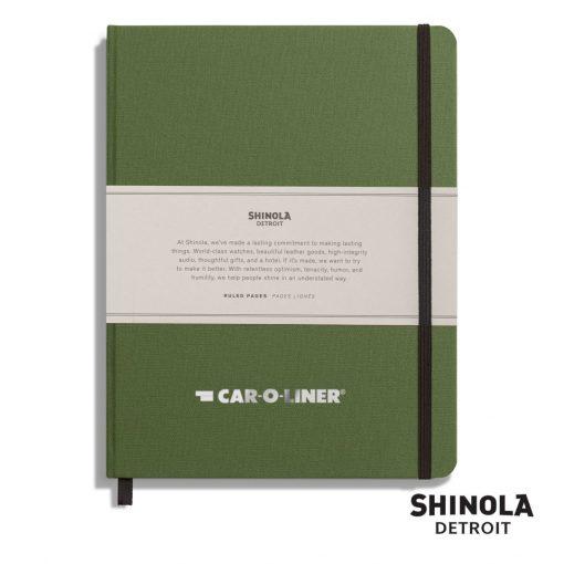"Shinola® HardCover Journal - (L) 7""x9"" Olive Green"