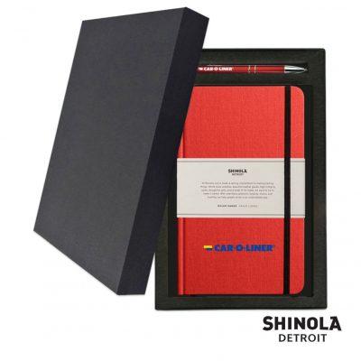 Shinola® HardCover Journal/Clicker Pen - (M) Ablaze