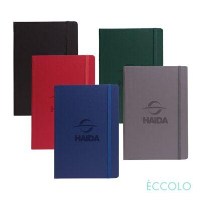 "Eccolo® Techno Journal - (M) 5½""x8¼"" Black (Dot Grid)"